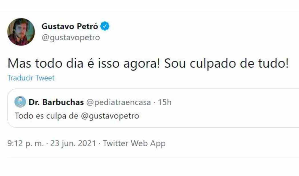 Gustavo Petro de Brasil pide que lo dejen de insultar