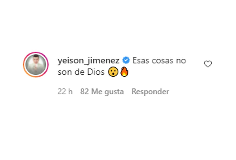 Yeison Jiménez comentario a Aura C. Geithner