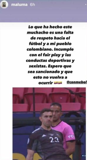 Maluma defiende a la Selección Colombia