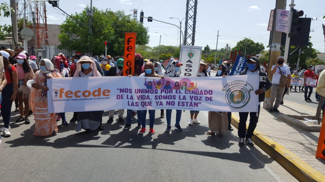 Manifestaciones en Riohacha en el 20 de julio.