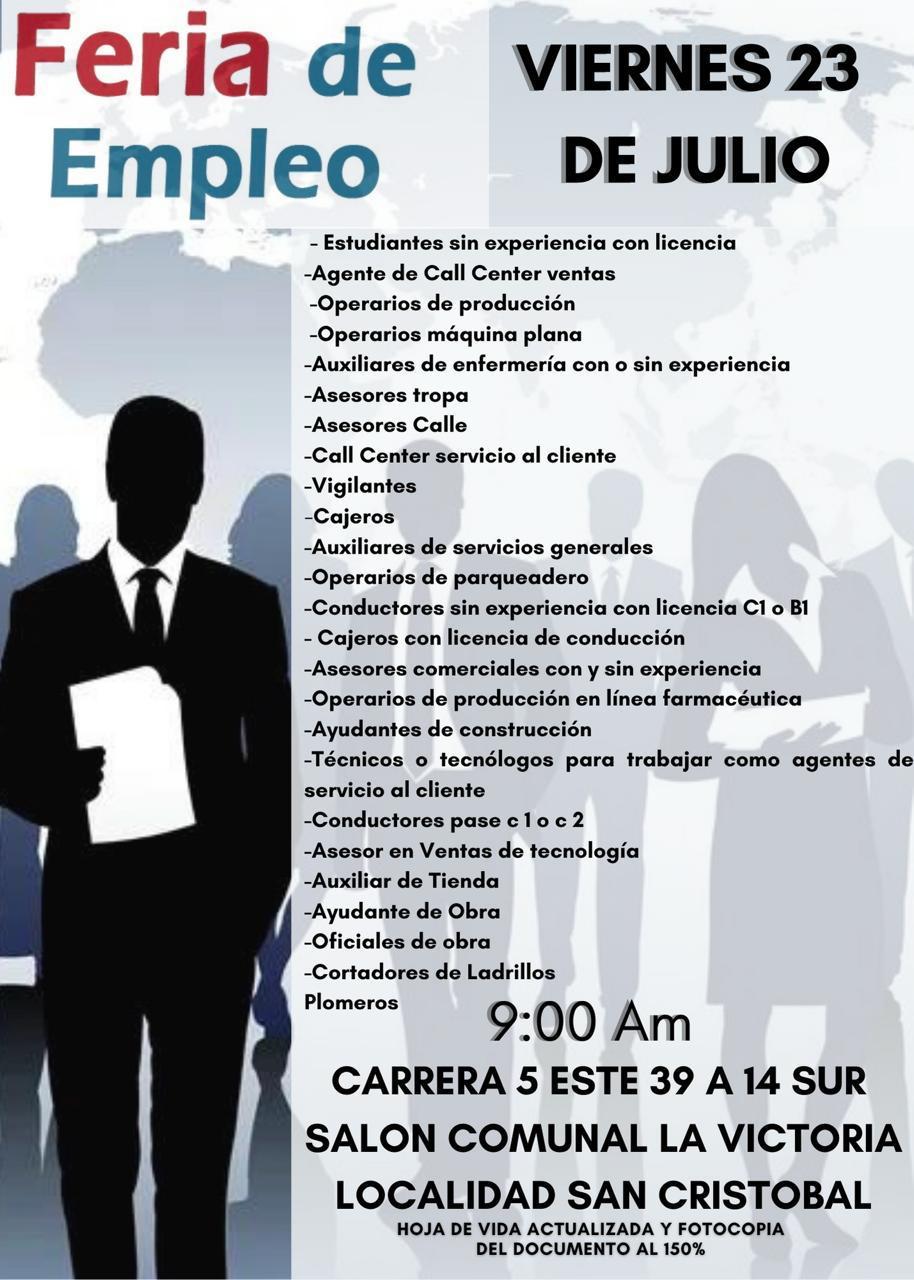 Ofertas de trabajo en Bogotá