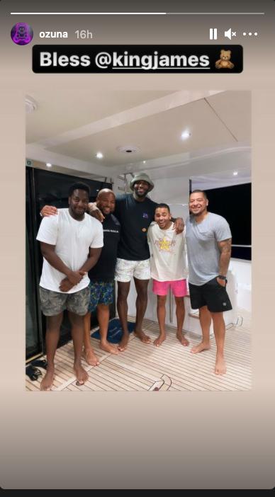 Ozuna y LeBron James