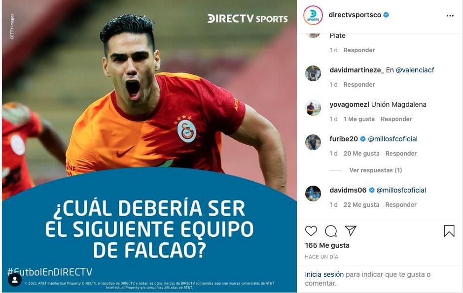 Captura de pantalla Instagram Directvsportsco
