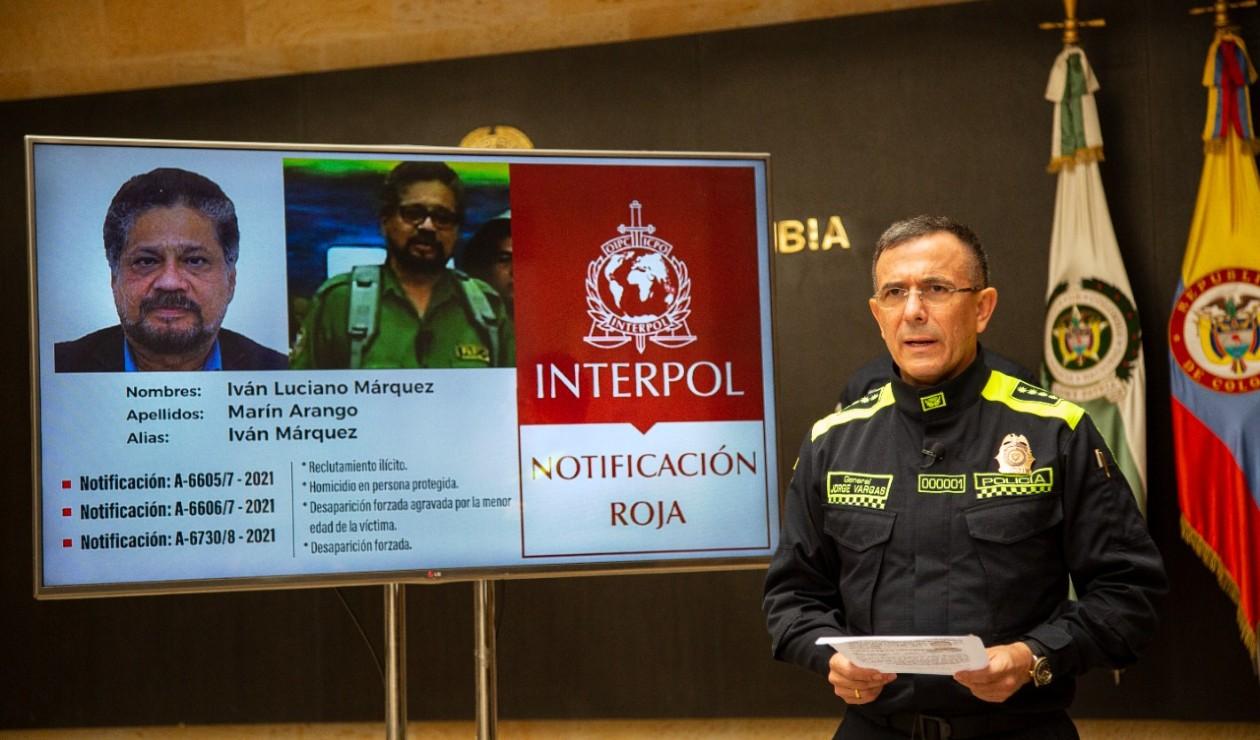 Circular roja de Interpol contra Iván Márquez