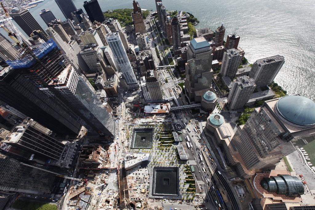 Ataque a las torres gemelas, en Nueva York. Memorial del 11-S.