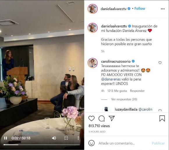 Comentario de Carolina Cruz a Daniella Álvarez