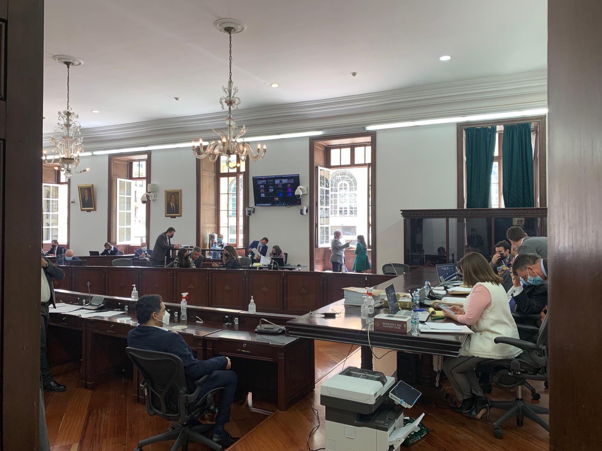 Comisión Primera Senado trabajando
