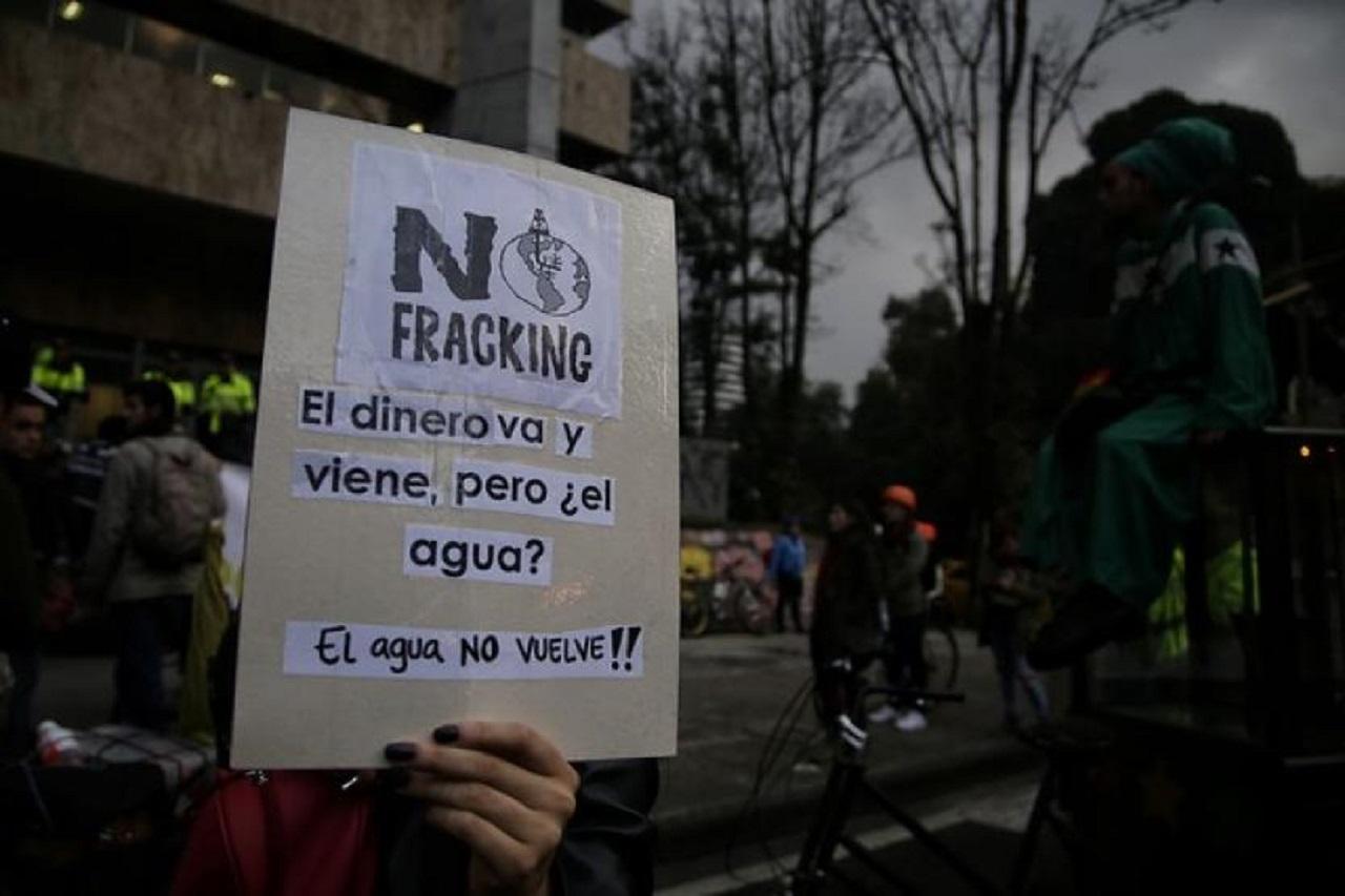 Protesta contra el fracking en Colombia