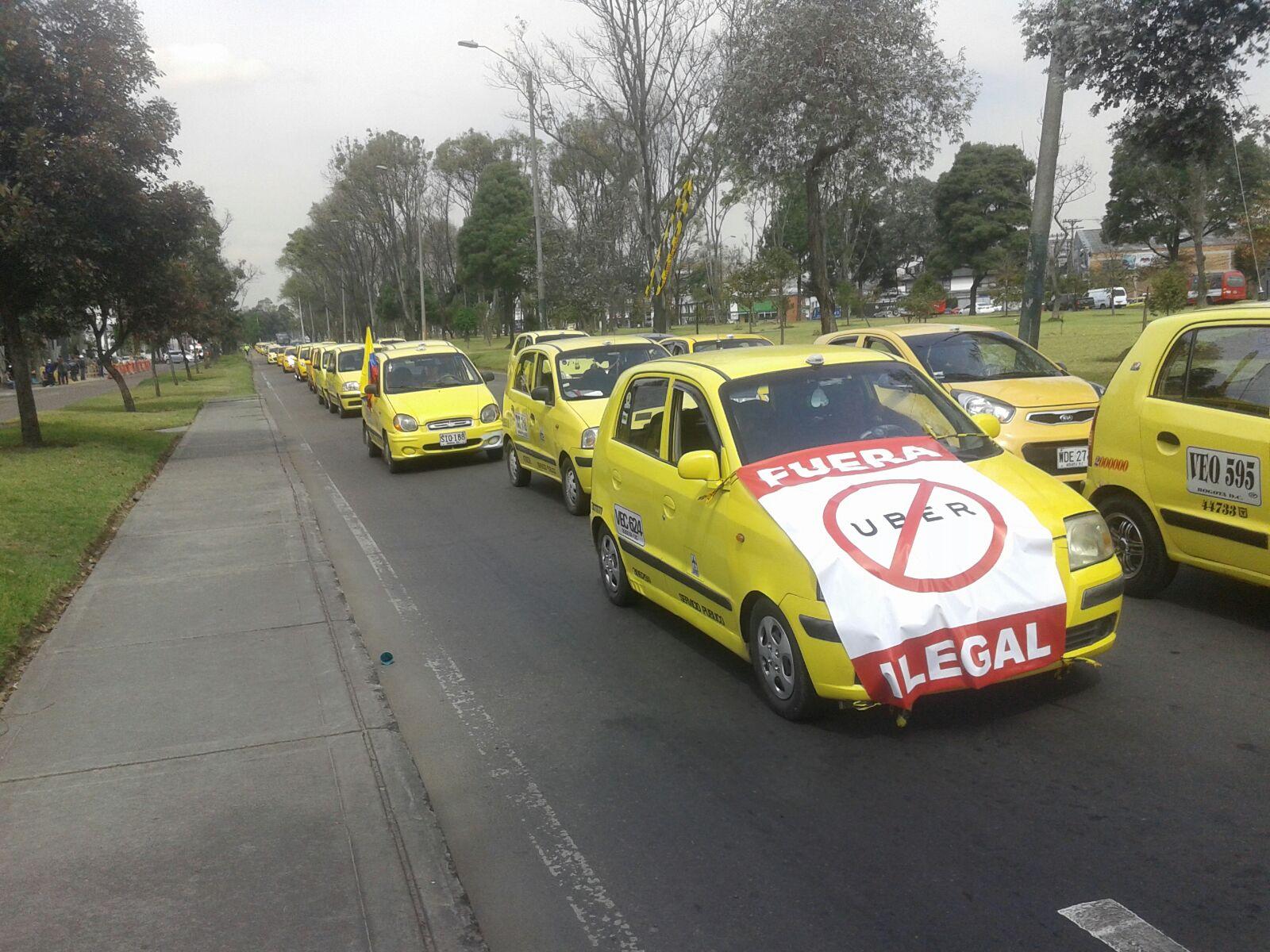Resultado de imagen para taxistas en colombia