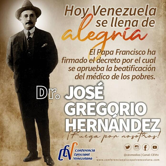 Dr Jose Gregorio Hernandez Sera Beatificado Por Orden Del Papa Rcn Radio