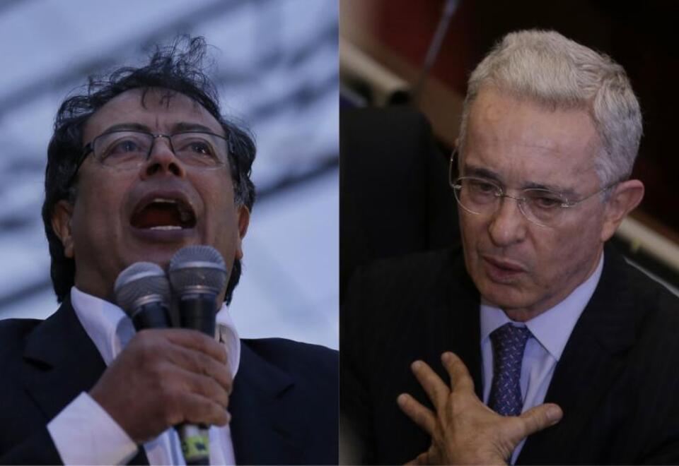 Gustavo Petro y Álvaro Uribe