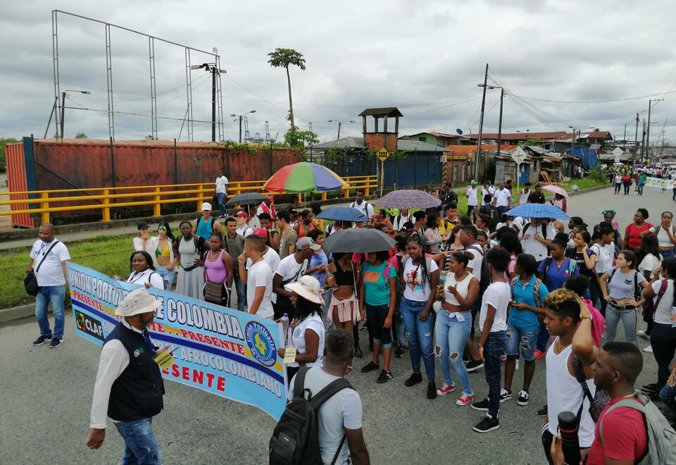 Marchas en Buenaventura.