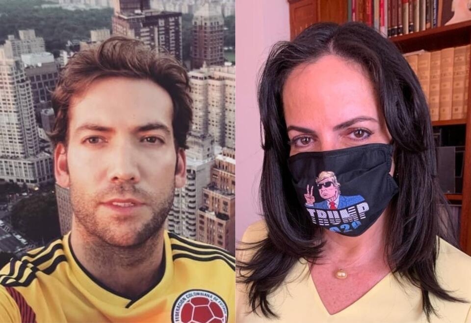 Martín Santos y María Fernanda Cabal