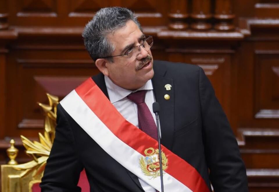 Manuel Merino, presidente interino del Perú