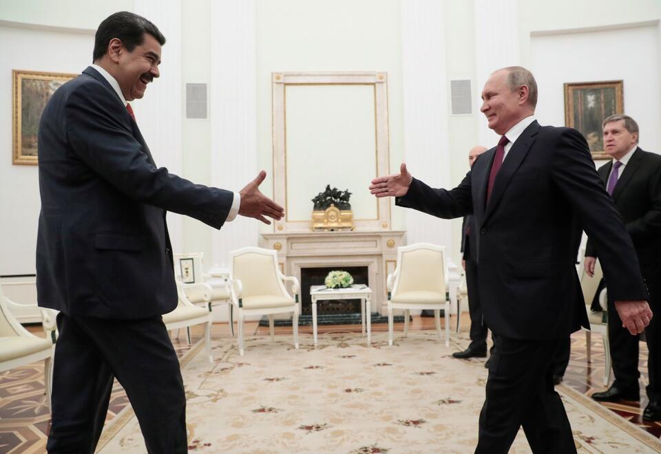 Nicolás Maduro y Vladimir Putin en 2019