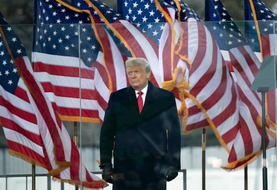 El saliente presidente de Estados Unidos, Donald Trump.