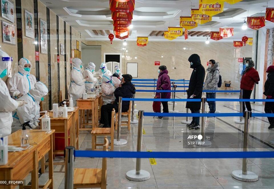 Pruebas de coronavirus en China