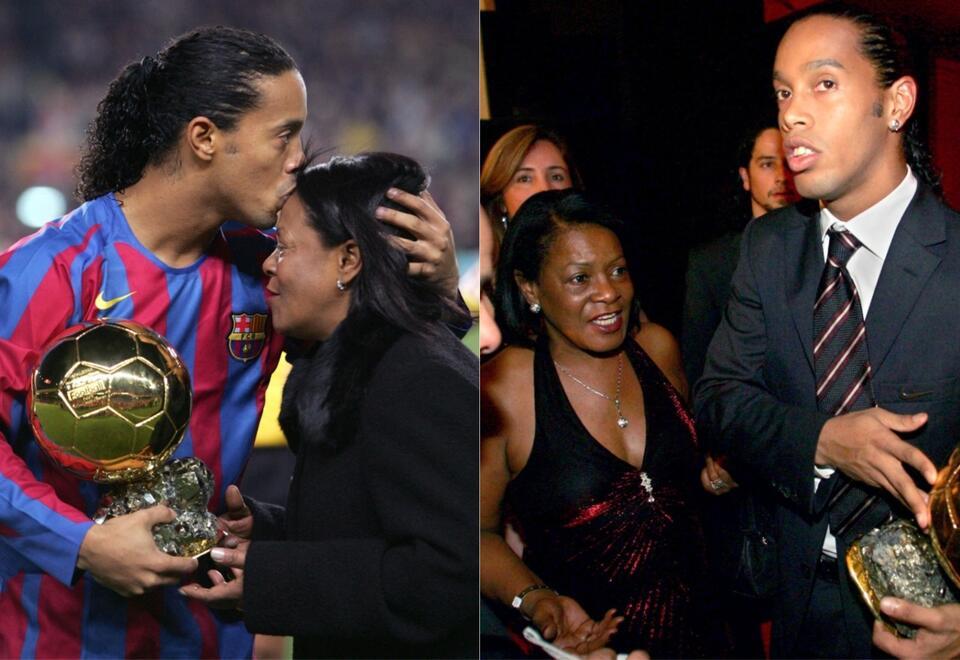Ronaldinho y su madre