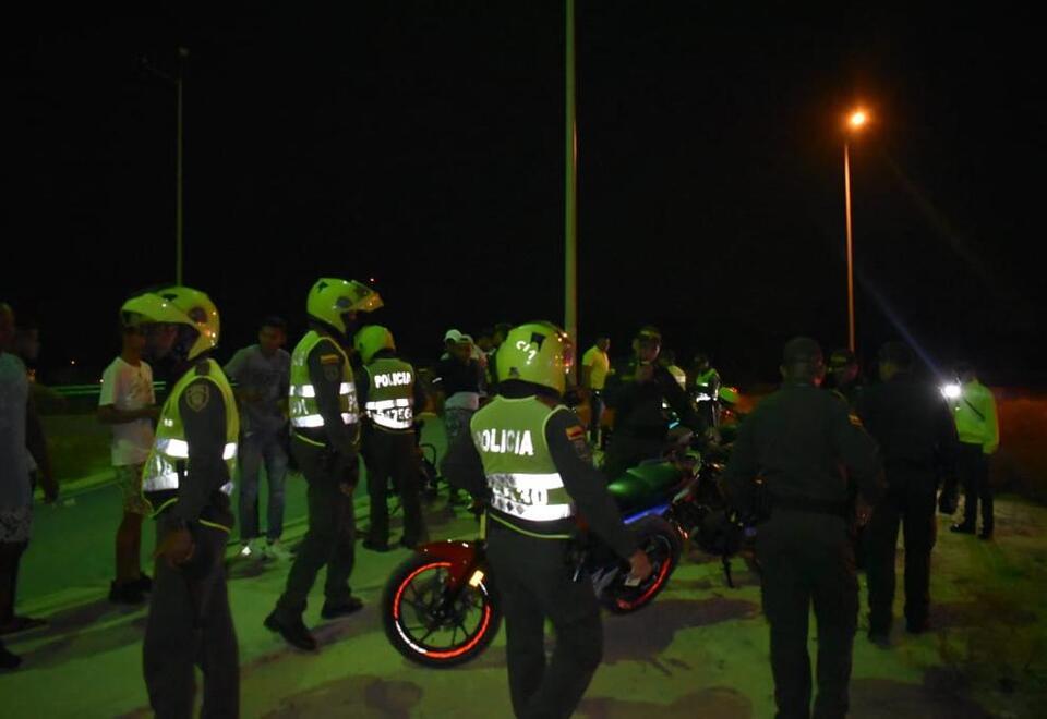 Procedimiento policial en el Atlántico