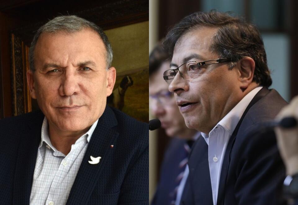 Roy Barreras y Gustavo Petro