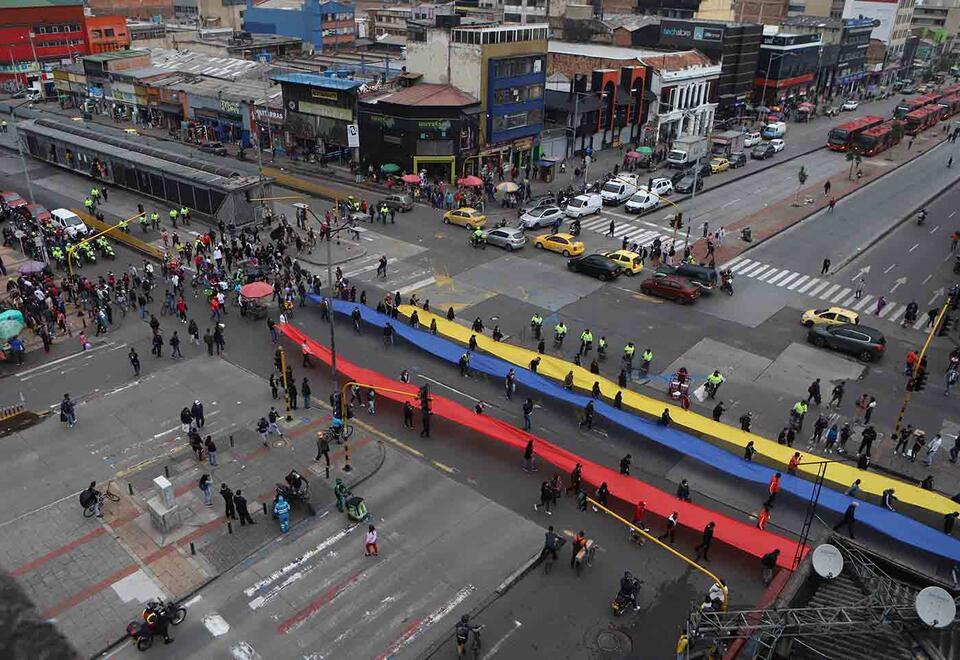 Comerciantes de San Victorino protestan por reactivación de madrugones