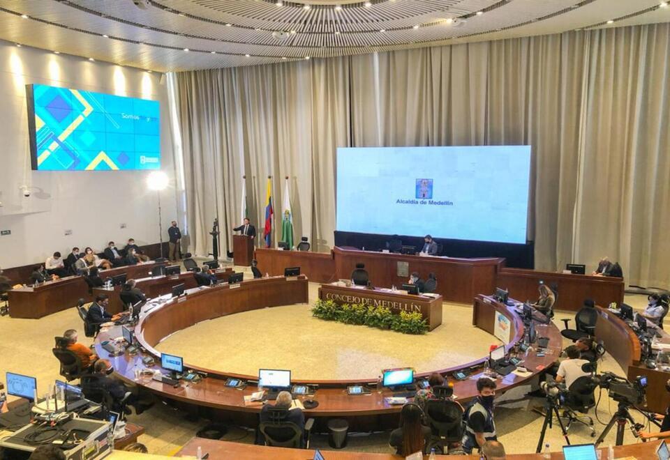 Instalación sesiones ordinarias en el Concejo de Medellín.