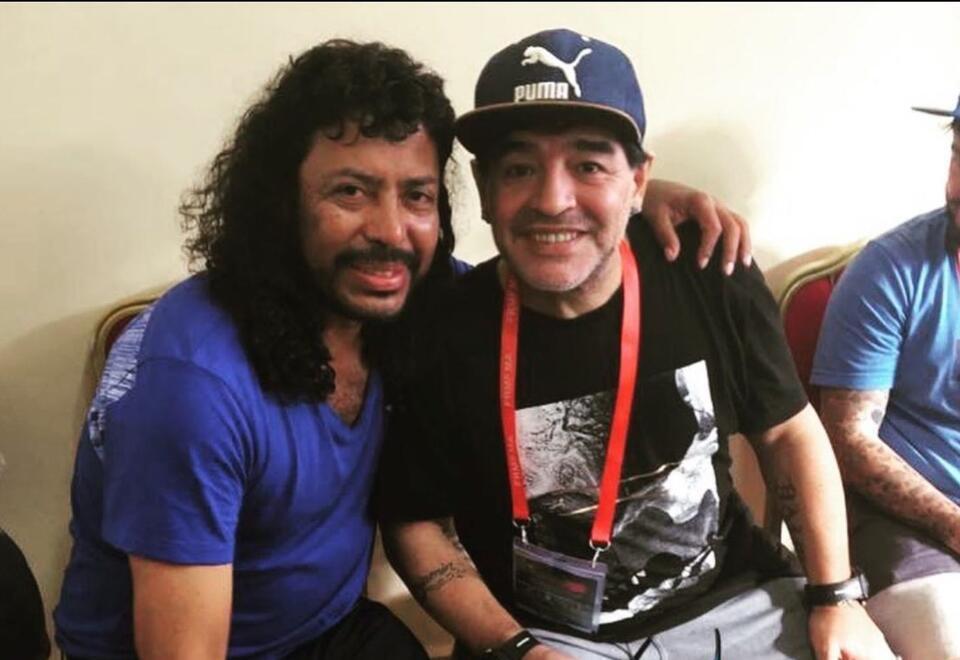 René Higuita y Diego Armando Maradona