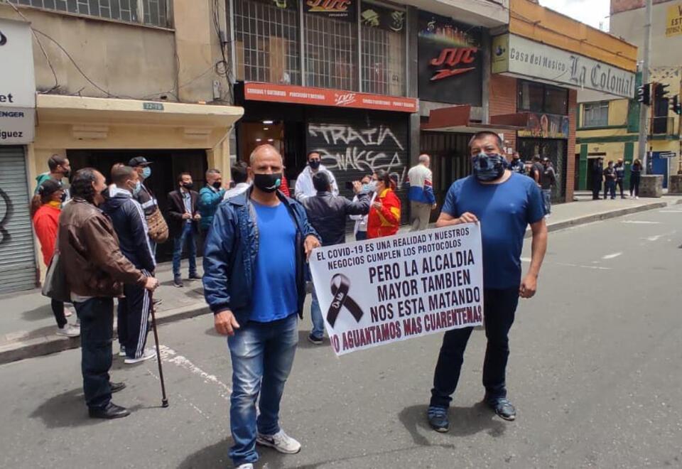 Protestas en Bogotá en cuarentena