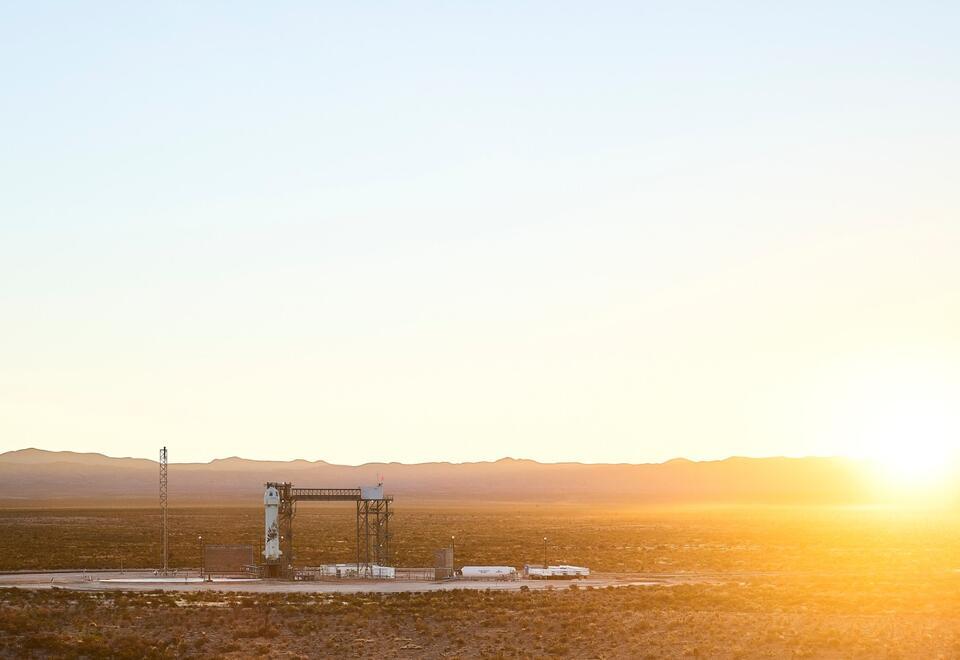 Cohete New Shepard, de Blue Origin, llevará humanos al espacio.