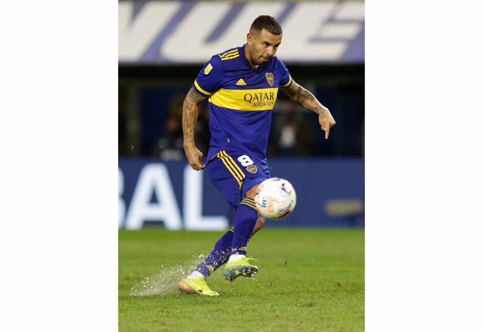 Edwin Cardona con Boca