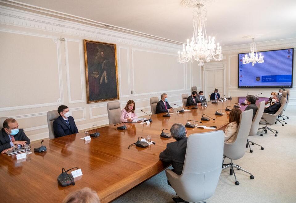 Presidente Iván Duque, reunión con Altas Cortes