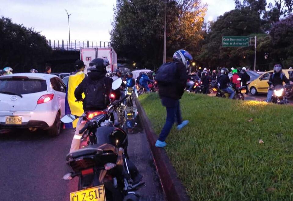 Afectaciones a la movilidad por las marchas y los disturbios en Medellín.