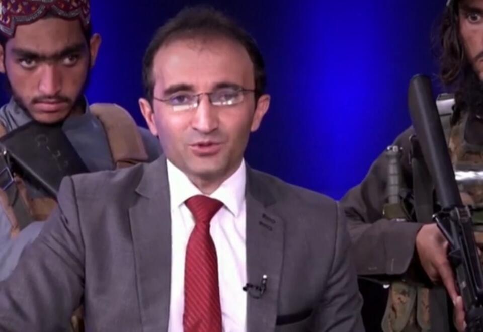Presentador en Afganistán