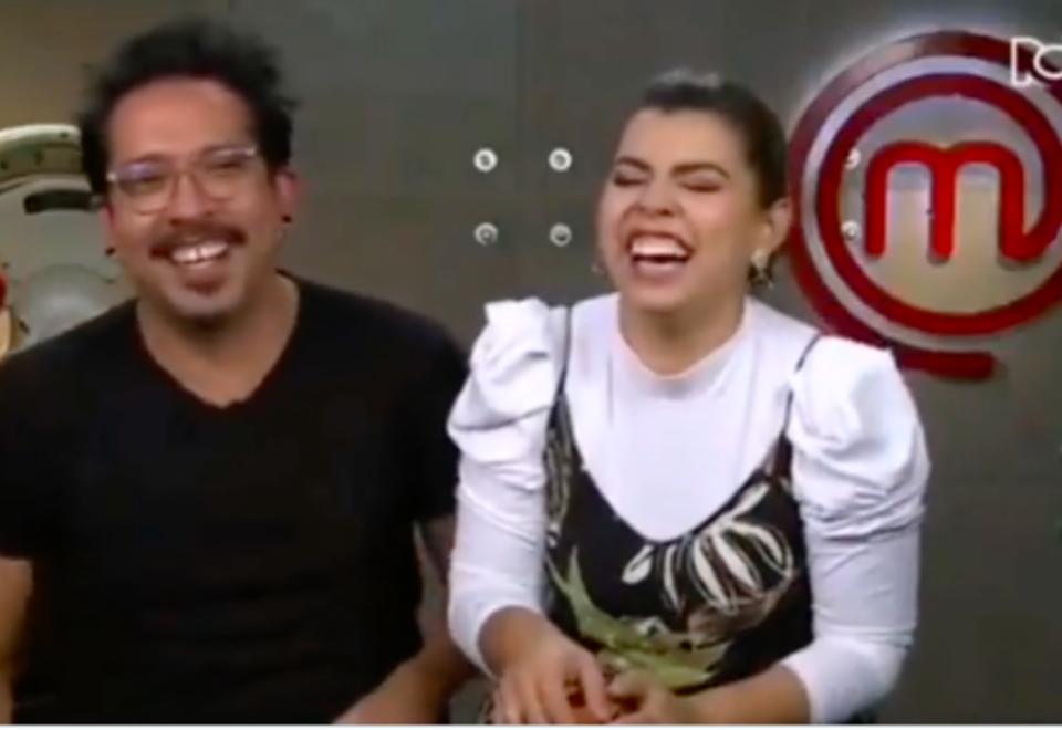 Liss Pereira y Frank Martínez en MasterChef Celebrity.