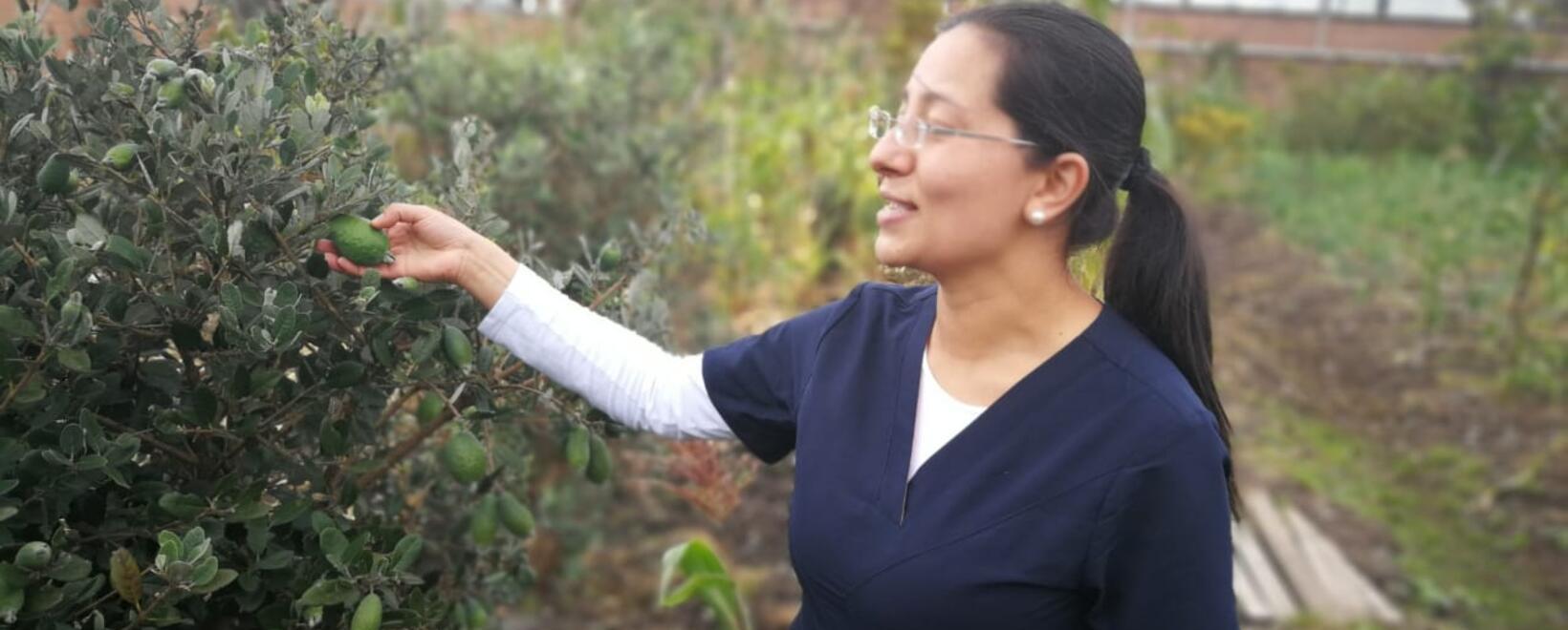 Naileth Aguirre, agricultora urbana