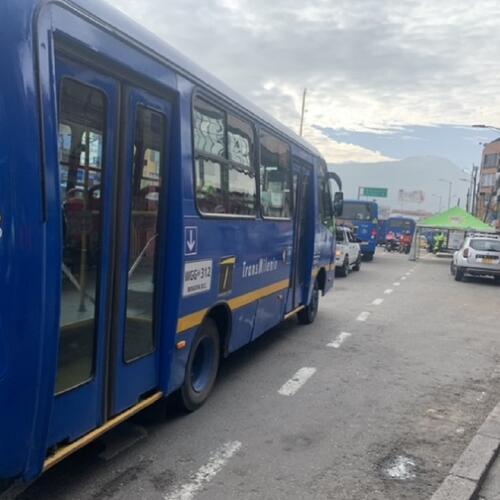 Bus del SITP, en Bogotá