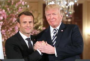 Emmanuel Macron y Donald Trump.