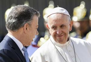 Papa Francisco y Juan Manuel Santos.