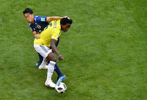 Carlos Sánchez fue expulsado en el partido ante Japón en el Mundial de Rusia