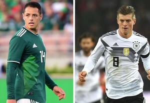 Javier 'Chicharito' Hernández (México) y Toni Kroos (Alemania)