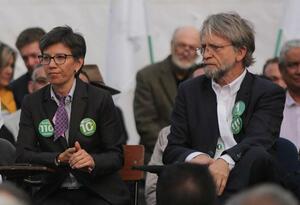 Claudia López y Antanas Mockus