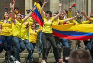 Hinchas de la Selección Colombia en Bogotá