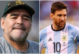 Maradona fue comparado con Messi