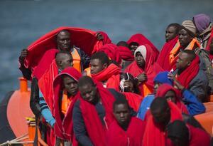 Migrantes africanos.