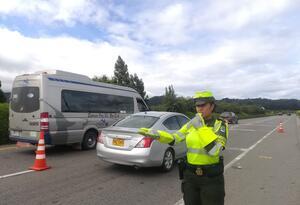 Movilización de vehículos durante puente festivo