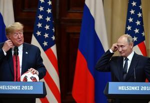 Presidente de EE.UU. Donald Trump y el presidente de Rusia, Vladimir Putin.