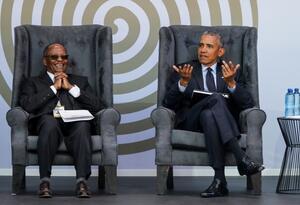 Barack Obama en el tributo a Mandela.
