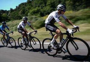 Egan Bernal y Chris Froome en el Tour de Francia 2018.