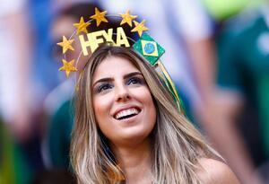 Hincha bonita en el Mundial de Rusia 2018