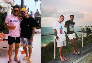 J Balvin y Falcao comparten fotos de sus vacaciones juntos